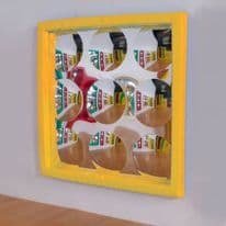 9 Bubble Soft Frame Bubble Mirror Yellow