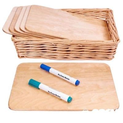 A4 Natural Wipe Boards (6pk),Natural Wooden Writing Board Set of 3,Outdoor mark making,writing boards,mark making sets,outdoor sensory play,special needs outdoor play