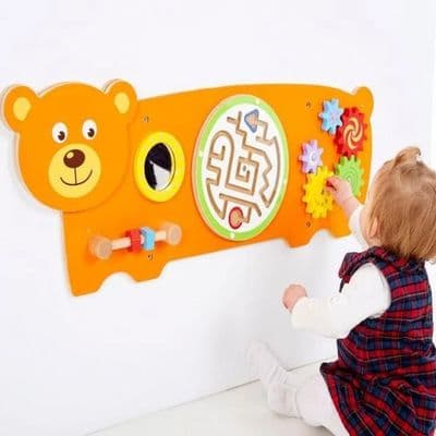 Bear Manipulative Wall Panel,bear Wall Game,Special needs wall toys,sensory room wall toys,wall games for special needs