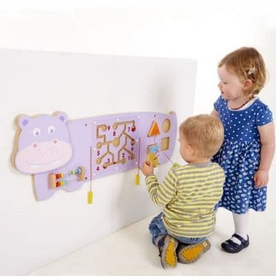 Activity Wall Panel Hippo,Hippo Wall Game,Special needs wall toys,sensory room wall toys,wall games for special needs