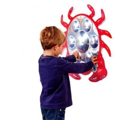 Anatex  Crab mirror wall panel, Special Needs Toys, Sensory equipment, Special needs equipment, Sensory room equipment, developmental environment setting, wall activity panels, wall hanging activities, sen learning, sensory education, special educational needs,