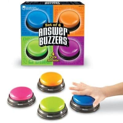 Answer Buzzers pack of 4,answer buzzers learning resources,learning resources uk discount code,education resources