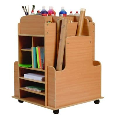 Art Storage Trolley,Art storage equipment trolley,PlayScapes Double Sided 2in1 Easel,classroom art equipment,Classroom easel,childrens art easel