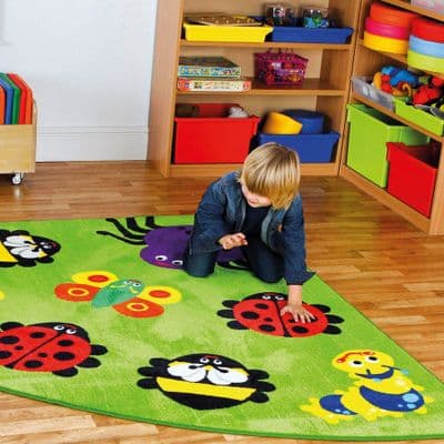 Back to Nature™ Bug Corner Placement Carpet,Corner Bug Placement Carpet Medium,kitforkids,kit4kids,school carpets,school carpets,school supplies,school furniture
