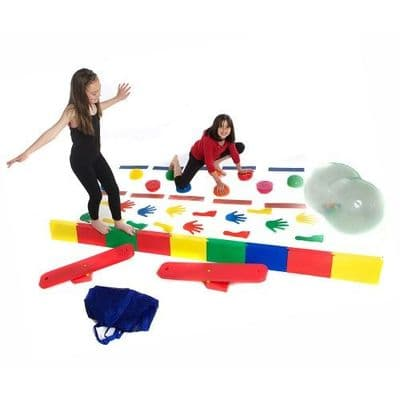 Balance Resource Pack,tuftex junior balance pack,sensory balancing games, get set and go movement packs, pe resources for a school, school pe department resources for children with sensory need