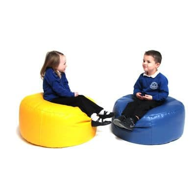 Bean Bag Primary Circle,Sensory Bean Bags,school bean bag furniture,school library seating,early years resources,early years resources discount code,school bean bags