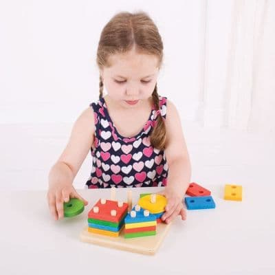 Bigjigs First Four Shape Sorter,First Four Shape Sorter,shape sorter toy,childrens shape sorting toy
