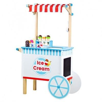 Bigjigs Ice Cream Cart,Bigjigs toys,Bigjigs discount,pretend play wooden kitchen,toddler kitchen,childrens kitchen toy