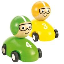 Bigjigs Pull Back Racing Car Pack of 2