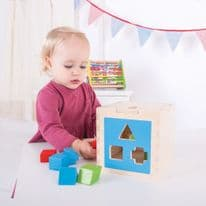 Bigjigs Shape Sorting Cube