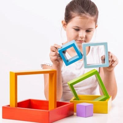 Bigjigs Stacking Squares,Bigjigs wooden toys,nursery toys, discount code,Bigjigs coupon,Educational Toys,themodernnursery.com discount code