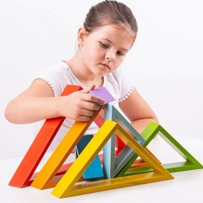 Bigjigs Stacking Triangles,Bigjigs wooden toys,nursery toys, discount code,Bigjigs coupon,Educational Toys,themodernnursery.com discount code