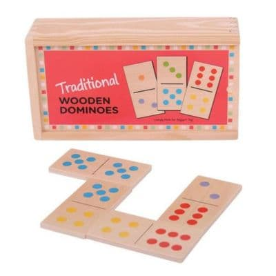 Bigjigs Traditional Wooden Dominoes,Bigjigs Domino game,Wooden toys,children's wooden toys,sensory toys,bigjigs toys
