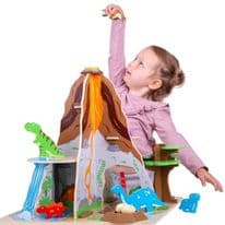 Bigjigs Wooden Dinosaur Island Playset