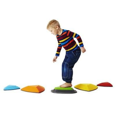 Bouncing River Stone Set.Gonge Bouncing River Stone Set.childrens balancing stones,balance steps,children's motor skills toys
