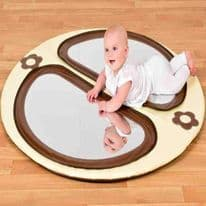 Brown and Cream Mirror Mat