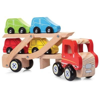 Wooden Car Transporter toy,childrens wooden toys,children's imaginative play ideas