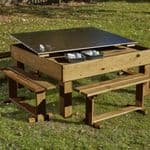 Chalk Table With Lift Lid And Benches