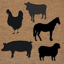 Chalkboard farmyard set of 5