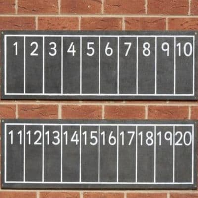 Chalkboard Number Line Pack of 2,Outdoor Mark Making Chalkboards Outdoor activity Chalkboard,outdoor art equipment,outdoor sensory toys and mirrors,sensory garden furniture