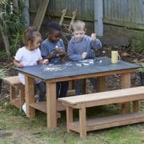 Chalkboard Table And Bench Set