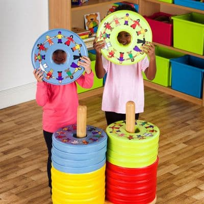 Children Of The World Multicultural Donut 24 Cushions And Trolley,sensory floor cushions,nursery cushions