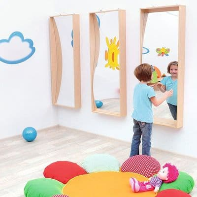 Childrens Wall  Mounted Wave Mirror,Toddler and baby Mirror,Sensory mirrors,Spacekraft sensory mirrors,sensory room mirrors,mirrors for childrens bedroom