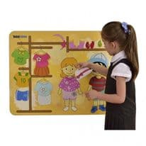 Childrens Wallboard  Getting Dressed