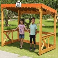 Childrens Wooden Outdoor Bus Station