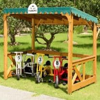 Childrens Wooden Outdoor Parking Shelter