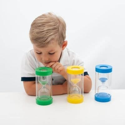 Clear View Magnifying Sand Timer Set,3 Pack Clear View Magnifying Sand Timer Set,1 minute sand timer,Special needs sand timer 1 minute,Special needs sand timer 1 minute