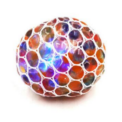 Colour Bubble Stress Mesh Ball,Glitter Squeezy Mesh Ball,stress ball,adhd,autism,fiddle toys,stress toys,fidget toys