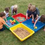 Coloured Desktop Sand and Water Tray Fun Pack Of 4