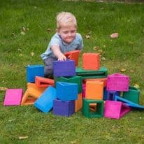 Coloured Outdoor Hollow Blocks