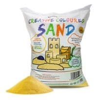 Coloured Sand  Yellow 15kg Bag