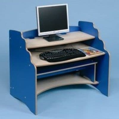 Computer Station and Bench,Childrens computer desk,classroom computer desk and bench,First Computer Station,Classroom computer stand,computer desk, computer chair, children's computer desk, children's computer chair, technology, school computer desk and chair, first computer station