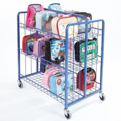 Double Sided Lunchbox Trolley,school lunchbox trolley,school lunch box trolleys,school classroom resources