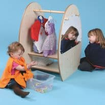 Dressing Up Trolley With Mirror