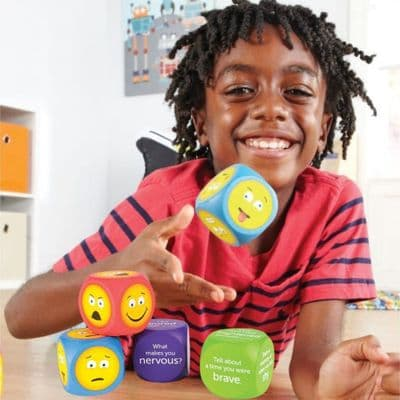 Emoji Cubes,Learning resources Emotion Cubes,special needs emotions tools,emotions aids,special needs emotion games,learning resources