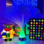 Fibre optic ice lamp