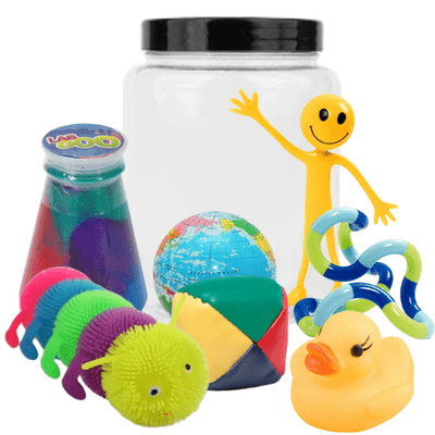 fiddle and think jar,think and fiddle jar,fiddle toys,fidget toys,cheap fiddle toys