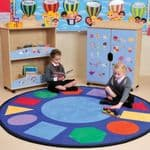 Geometric Round Learning Rug