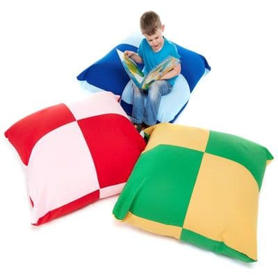 Giant Multi Coloured Cushion Pack of 3.Large bean bags,giant bean bags,Children's floor cushions,classroom floor cushions