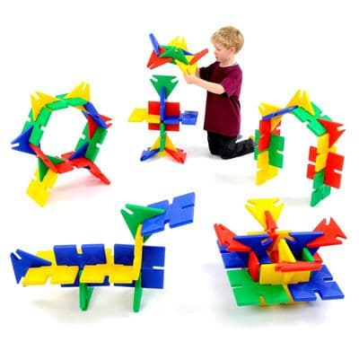 Giant PolyPlay 72 Pieces,Polydron toys,Polydron discount code,,building blocks,sensory building blocks,sensory toys,fiddle toys,manual dexterity toys