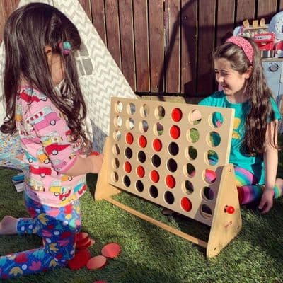 Giant 4 in a Row Game,outdoor games,outdoor games for schools,outdoor classroom games,large connect 4,wooden connect 4,connect 4 game for the garden