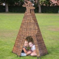 Giraffe Wicker Teepee
