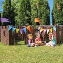 Hand Woven Wicker Castle Panels of 4