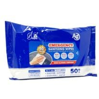 Handy Pack of 50 Emergency Sanitising Wipes