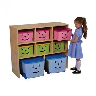 Happy Storage Units 9 Bins,Happy Storage Units Bins,School storage Bins,School storage ideas,school storage tubs and bins,school nursery storage ideas