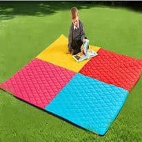 Indoor and Outdoor Large Quilted Harlequin Mat 2000 x 2000mm